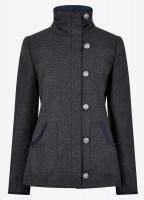 Bracken Tweed Coat - Graphite