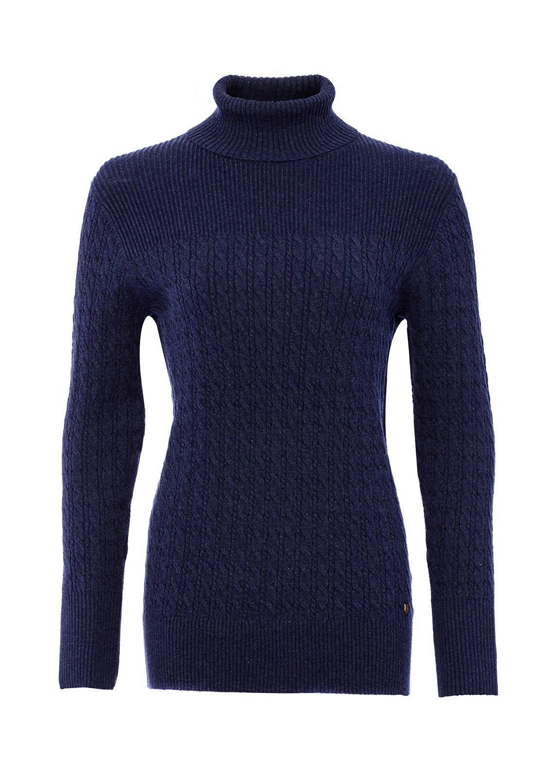 Dubarry_ Boylan Polo Neck Sweater - French Navy_Image_2
